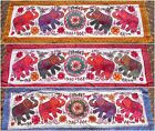 Indian Elephant Wall Hanging Table Runner Mirror Ethnic Hippy Boho Mandala