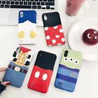 Cartoon cute Minnie Mickey mouse card pocket case cover for iphone X 8 7 6S plus