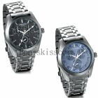 Business Casual Luxury Dial Men's Stainless Steel Analog Quartz Wrist Watch New image