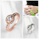1pc Fashion Women's White Big Rhinestone Wedding Jewelry Round Rings Size 6-8 D