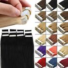Promotion 20/40pcs Tape in 100% Remy Human Hair Extensions Virgin Skin Weft AU
