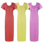 NEW LADIES 100% COTTON ZIP NIGHTIE WOMENS LONG NIGHTDRESS LOUNGER 8-16