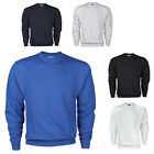 Mens Jumper Sweater Pullover Crew Neck Plain Long Sleeve Casual Top New RUSSELL
