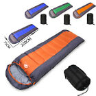 4-5 Season Adult Waterproof Outdoor Envelope Sleeping Bag Camping Hiking Case UK