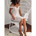 Women Lace Vestidos Summer Off shoulder BodyCon Bandage Party Evening Dress fk7