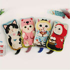 Kawaii Cute Pussycat Cosmetic Felt Pouch Case / Jetoy Choo Choo Dolly Pouch