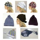 Men's / Women's Winter Multi Plain Braided Knit Ski Skull Warm Beanie Hat / Cap