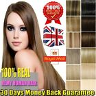 Fashion One Piece Clip In REAL Remy Human Hair Extensions 3/4 Full Head UK Y199