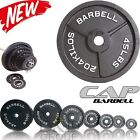 """CAP Barbell 2"""" Olympic Cast Iron Plates Weight Gym Home Lifting Exercise SINGLE"""