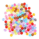 250/500pcs Transparent Pure Mixed Color Plastic Round Spacer Beads Findings D