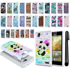 For ZTE Warp Elite Z9518 Anti Shock Studded Bling HYBRID Case Phone Cover + Pen