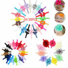 UK 10-20pcs Elastic Baby Headdress Kids Hair Band Girls Bow Newborn Headband