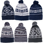 Mens, Womens Soulstar Knitted Bobble Patterned Beanie Woolly Winter Warm Hat One