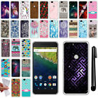 For Huawei Google Nexus 6P Design TPU SILICONE Soft Protective Case Cover + Pen
