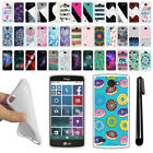 For LG Lancet VW820 Various Design TPU SILICONE Soft Protective Case Cover + Pen