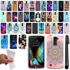 For LG K10 Premier LTE L62VL K428 Art Design TPU Soft SILICONE Case Cover + Pen