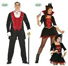 Deluxe RED Vampire Vampiress Dracula Ladies Men's Halloween Fancy Dress