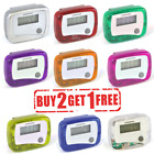 LCD Pedometer Step Walking Jogging Running Hiking Distance Fitness + Belt Clip