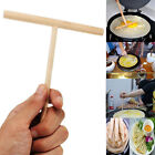 1/2/5X Wooden Rake Round Batter Pancake Crepe Spreader Kitchen Tool Kit DIY