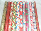 12m (2x6m) or 16m (2x8m) Christmas Wrapping Paper Gift Wrap Traditional Foil