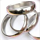 Stainless Steel Silver Ring Plain Band Uk Sizes L-x Wedding Engagement Thumb