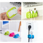 Desk Tidy Organiser Wire Cord Lead Drop Clips USB Cable Charger Holder
