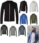 MEN'S LIGHTWEIGHT, UNLINED, ZIP UP, ECO-JERSEY BEACH HOODIE, S M L XL 2XL 3XL
