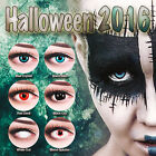Red Fun Crazy Contact Lenses For Carnival incl. Free Lens Case