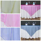 """6 pc 60x60"""" Organza TABLE Top OVERLAYS Wedding Party Catering Decorations SALE"""