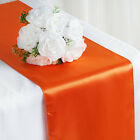 "20 12"" x 108"" Satin Table Top Runners Wedding Party Linens - Free Shipping"