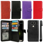 For LG G5 H850 VS987 Leather Flip Magnetic Card Holder Wallet Cover Case + Pen
