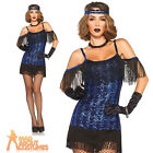 Adult Glamour Flapper Girl Costume 1920s Gatsby Ladies Fancy Dress by Leg Avenue
