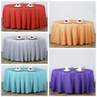 "6 pcs 120"" Round Polyester Tablecloths Wedding Linens Decoration Supplies"
