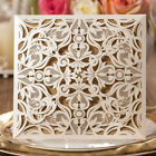 Ivory Luxury Laser Cut Wedding Invitations Card, Envelopes, Seals, Personalized