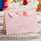 Pretty Personlize Pink Laser Cut Baby Shower Girl Invitation With Envelope Seals