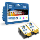 REFRESH CARTRIDGES 2 PACK OF COLOUR 30XL INK COMPATIBLE WITH KODAK PRINTERS