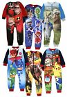 Official Boys Fleece Character Onesie Pyjamas Childrens All In One  Pj's Size