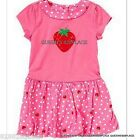 Nwt Crazy 8 girls  pink red strawberry dot dress size 18-24 months new