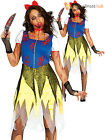 Ladies Zombie Snow Princess Costume Adults Halloween Horror Fancy Dress Outfit