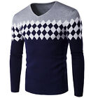 Fashion Mens Slim Fit Casual Knitwear Pullover Cardigan Sweater Jacket Coats Top