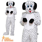 Adult Dalmatian Dotty Mascot Costume Dog Animal Fancy Dress Outfit New