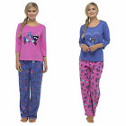 Womens Ladies Warm Lounge wear Pyjama Set  Bottoms Pjs Pants Long Sleeve Animal