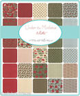 Moda UNDER THE MISTLETOE Quilt Craft Christmas Red Green Fabric Fat Quarter