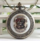 antique Steampunk Hogwarts magic Pocket Watch Necklace Classic pocket watch