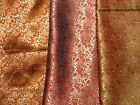 Imitation/faux silk brocade shimmer dressmaking/craft fabric small Paisley
