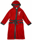Liverpool FC official boys hooded fleece dressing gown age 3-13 years