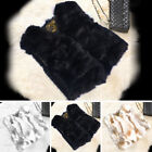 Women 100% Real Rabbit Fur Coat Sweater Vest Waistcoats Shawl Natural Gilet Nice