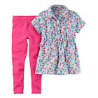 NWT Carters Toddler Girl 2-Piece Summer Top &  Legging Outfits  2T 3T 4T