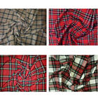 """Dress Upholstry Poly Viscose Tartan Fabric 150cm 59"""" Wide Check Sewing Project"""