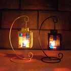 Painted Glass Decorative Candle Lanterns Candlestick Holders for Home Decor